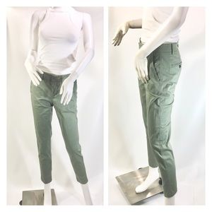 Vince - Moss Green Cotton Slim Ankle Pants  Size 2